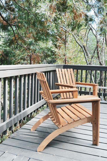 Put these babies together for my client's deck in Lake Arrowhead. Super comfortable and live the natural wood!
