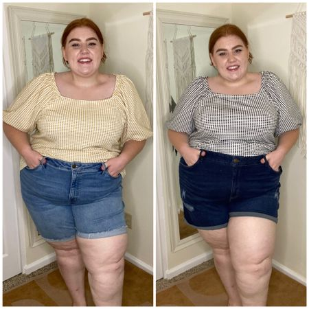 Obsessed with the fit of these Jean shorts from #target They have a no back fit and it's true! Super stretchy in in a 26 in both and could have easily sized down! http://liketk.it/3iq0B #liketkit @liketoknow.it #LTKcurves #LTKstyletip #LTKsalealert