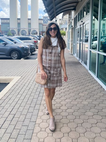 Brining in the mew season with this cute jumper dress!  Added just a timeless, trendy, and chic look! Get the details here   #LTKstyletip #LTKbacktoschool #LTKSeasonal