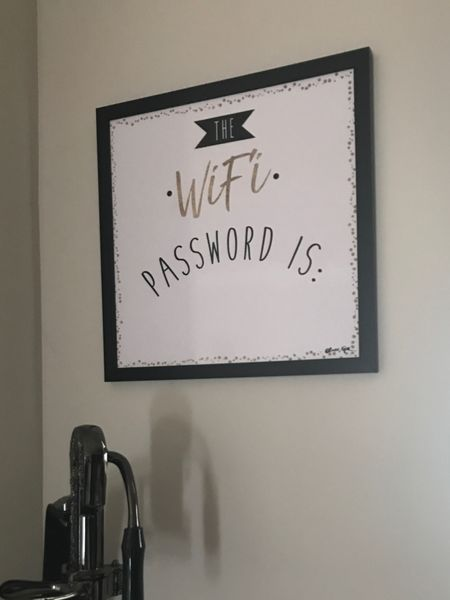 Update your home decor with this WiFi wall art. Your family will know the password when they are over for the holiday season!   Kitchen decor, office decor, home decor, artwork, kitchen inspiration.   Follow me on the LIKEtoKNOW.it app for more home furniture and decor ideas.     #LTKSeasonal #LTKhome #LTKstyletip