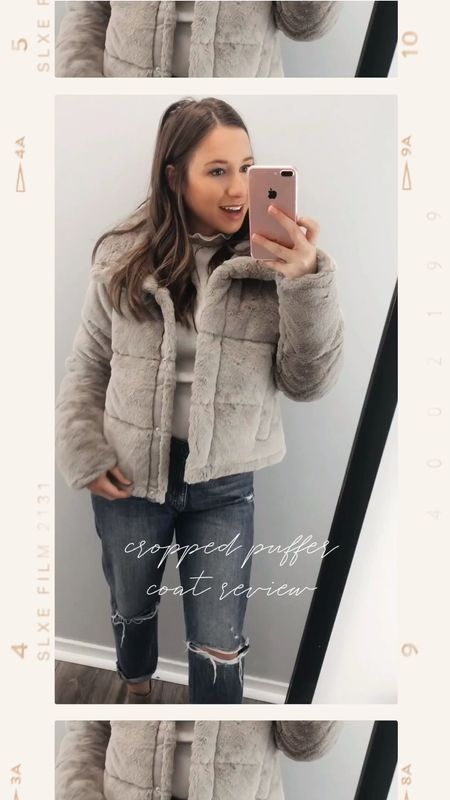 On the fence about the Abercrombie puffer coat? It's a MUST! I couldn't be more in love with the faux fur tan cropped puffer coat, but the faux leather certainly grabbed my eye too. Maybe my next one?! The quality is amazing and it's so warm too! Perfect for cold weather while also being so cute and trendy.   #LTKgiftspo #LTKstyletip #LTKunder100
