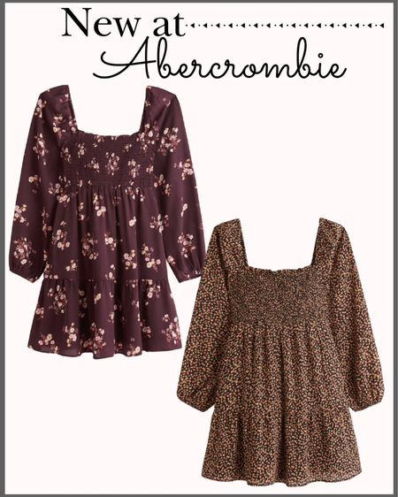 New arrivals at Abercrombie! 🍁  Fall dresses Midi dress Smocked dress Fall fashion Abercrombie dress Floral dress Family photos dress Family photos outfit  #LTKunder100 #LTKstyletip #LTKsalealert