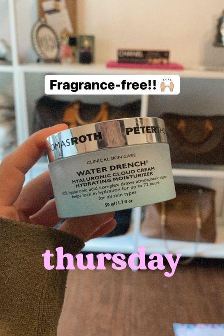 Fragrance free skincare, moisturizer, hyaluronic acid   #LTKbeauty
