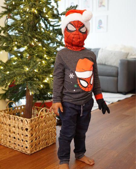 Spiderman Wearing Santa Hat http://liketk.it/31IN5 #liketkit @liketoknow.it