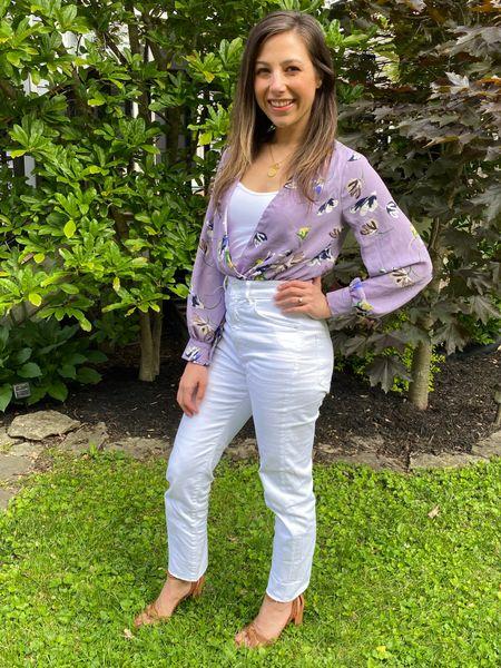 White denim // Memorial Day // bodysuit // outfit for spring // date night   #LTKunder100 #LTKshoecrush #LTKstyletip