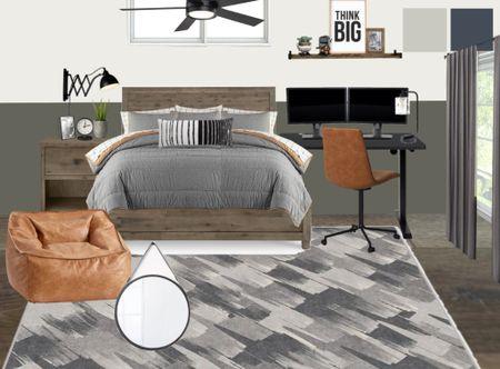 Moody teen boy room with Star Wars rug #potterybarnteen  #LTKhome