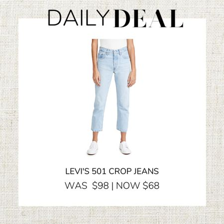 These cute Levi's 501 Crop Jeans are on sale for $68 on Shopbop. So cute and would look good with a shacket and combat boots or sneakers!   #LTKsalealert #LTKunder100 #LTKstyletip