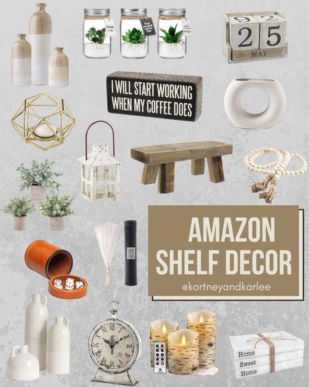 Amazon Shelf Decor!  Amazon shelf home decor   shelf decor from amazon   shelf decor   affordable shelf decor   amazon home favorites   amazon home   amazon home decor   amazon home edit   amazon home finds   Kortney and Karlee   #Kortneyandkarlee #LTKunder50 #LTKunder100 #LTKsalealert #LTKstyletip #LTKSeasonal #LTKhome @liketoknow.it #liketkit http://liketk.it/3hP7J