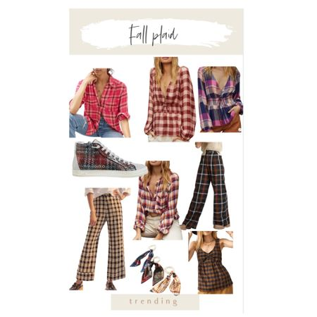 Fall plaid!! The best Fall print. These are all different & unique.    #LTKunder100 #LTKunder50 #LTKSeasonal