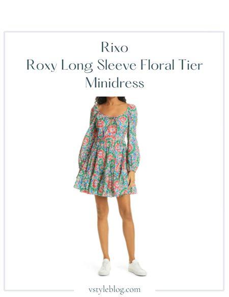 Fall outfits, Wedding guest dresses, Long sleeve mini dress, Floral tier mini dress, Sale alert  RIXO Roxy Long Sleeve Floral Tier Minidress @ Nordstrom (was $325, now $136.97)  #LTKSeasonal #LTKwedding #LTKsalealert