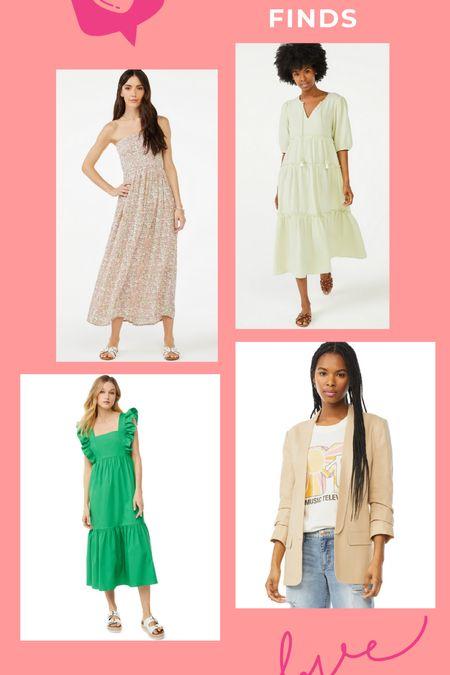 Walmart spring and summer dresses.   #LTKSeasonal #LTKcurves #LTKsalealert