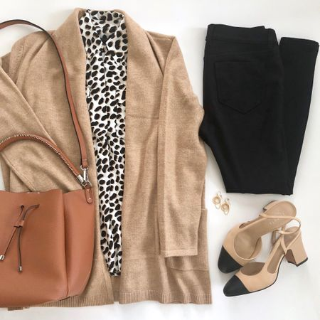 In a fall state of mind with this oufit. 🍁 My exact leopard print blouse is sold out but I linked to a similar one. The cognac bag is recent from Zara. I used a belt hole puncher to shorten the crossbody strap by one more hole. My exact slingback pumps are comfy and true to size. @liketoknow.it  http://liketk.it/2xEB5 #liketkit #LTKstyletip #LTKsalealert   #LTKshoecrush #LTKunder100 #LTKunder50