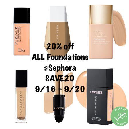 Sale ALERT 🚨 20% off ALL Foundations at Sephora! Happy shopping! #steffsbeautystash  #LTKSale #LTKbeauty #LTKsalealert