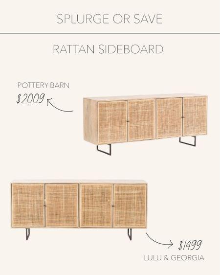 Splurge or Save | This natural sideboard is a home staple this season   #LTKSeasonal #LTKstyletip #LTKhome