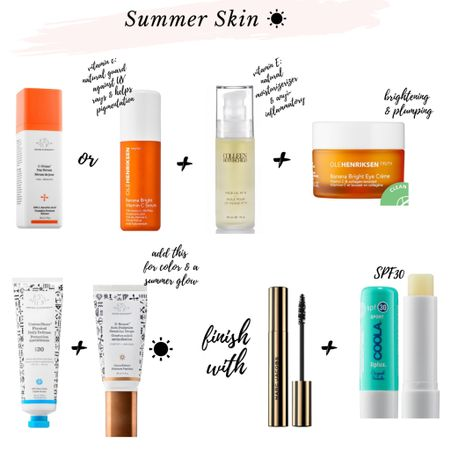 """Summer skin in all it's bronzed, glowy and SPF protected glory! All my favorite daily & morning skin routine favorites for summer linked below. It's the perfect """"no makeup"""" look for warm days outside. My Colleen Rothschild products are on sale right now too! $25off $100 or more with code: CODE25 or $50off $200 or more with code: CODE50. http://liketk.it/2S77Y #liketkit @liketoknow.it #LTKbeauty #LTKsalealert #LTKDay Shop your screenshot of this pic with the LIKEtoKNOW.it shopping app #crbeauties #skincare #skinroutine"""
