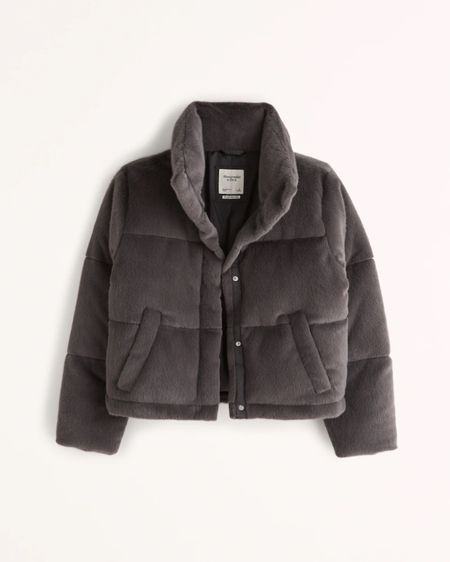 One of my go tos the past 2 year. Faux fur jacket from Abercrombie's new arrivals