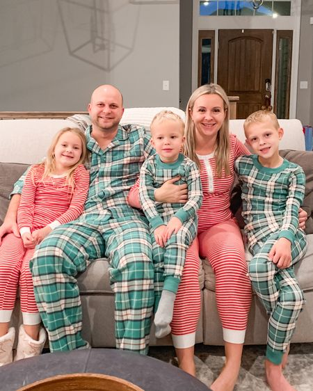 Family Jammie night! It was a little difficult to find matching this year so we improvised with a combo and I'm loving it! Not everyone gets as excited as me for this annual tradition (*cough, cough* Neal 😉) but since I do the shopping, I don't plan on stopping 😝 http://liketk.it/34qwu #liketkit @liketoknow.it #LTKunder100 #LTKfamily #StayHomeWithLTK