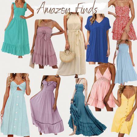 http://liketk.it/3gGBG #liketkit @liketoknow.it #LTKunder50 #LTKwedding #LTKtravel Summer dress, wedding guest dress, Amazon fashion, found it on Amazon, vacation outfits, beach vacation, cocktail dress, baby shower dress, maternity style, maxi dress, midi dress, summer outfit, affordable dresses, effortless outfit, lace dress floral dress, vibrant dress, pink dress, white dresses, blue dress, green dress, yellow dress, mint dress, turquoise dress, ruffle dress