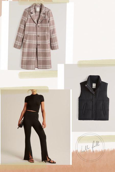 Fall outfits, puffer jacket, vest, coat, plaid, split hem   #LTKSeasonal #LTKstyletip #LTKunder100