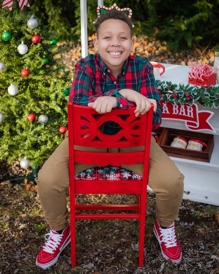 We're in the Christmas spirit!  ⠀⠀⠀⠀⠀⠀⠀⠀⠀ Elijah (9) is all about gaming and tech and so is his list this year. Missing the days when it was all about dinosaurs and cars because he's growing so fast!  ⠀⠀⠀⠀⠀⠀⠀⠀⠀ Can you believe this kid wears adult clothes and shoes now?! I wasn't ready for that realization or the price increase going from the boys' section to the men's section 🤦🏽♀️  ⠀⠀⠀⠀⠀⠀⠀⠀⠀ I try to catch what I can for him on sale to save money. I just saw that his shirt and pants are 35% off so I'm sharing in case clothes are on your list and in the budget!  ⠀⠀⠀⠀⠀⠀⠀⠀⠀ Everything is linked on my LiketoKnow.it in my bio 🎄  #LTKunder50 #LTKmens #LTKkids