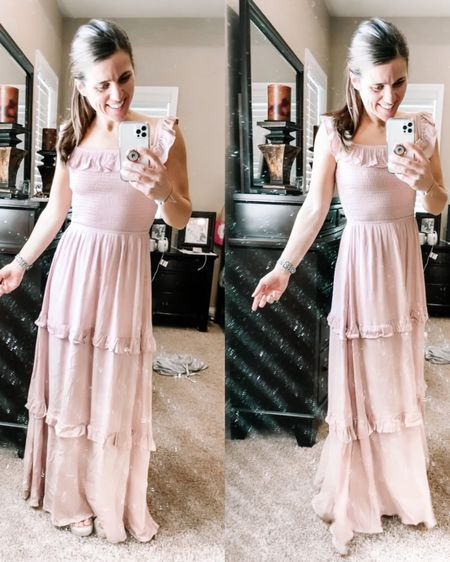 I am loving this pink maxi dress from Altar'd State! This dress fit true to size and is very flattering! This is such a great dress to wear to a spring picnic or event! I also linked my leopard cheetah apple watch band and phone case! Click here to shop the full look here! http://liketk.it/39Nwn #liketkit @liketoknow.it #LTKSeasonal #LTKstyletip #StayHomeWithLTK Follow me on the LIKEtoKNOW.it shopping app to get the product details for this look and others