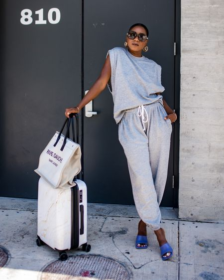 Sharing the best loungewear, carry-on luggage, totes and comfy shoes for you to Travel in Style in today's blog post.  Click the link in my bio for details or visit fashionsteelenyc.com  Got this super cute set from @urbanoutffiters and it's perfect for traveling. I list a few more favorites from them in today's post and here: http://liketk.it/3hGbt  on my @liketoknow.it profile. #liketkit #UOonYOU #UOCommunity