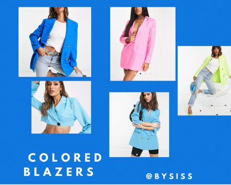 The Colored blazer - we love these popping colors and found the coolest blazers fy 💙  #LTKunder100 #LTKworkwear #LTKeurope