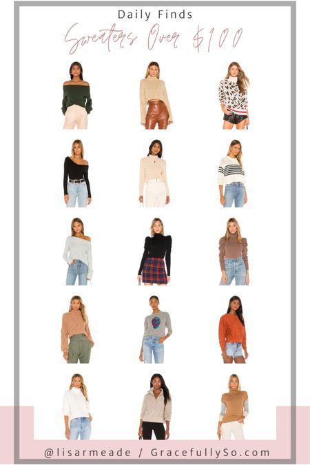 Sweaters Over $100  http://liketk.it/2Yqb8 #liketkit @liketoknow.it  #sweater #sweaterweather #fallstyle #fallfashion #revolve #abercrombie #nordstrom #coldweatherstyle #chunkyknit #turtleneck