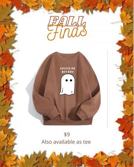 Ghost boo sweatshirt #ltkunder10 #ltkfall   #LTKunder50 #LTKSeasonal #LTKstyletip
