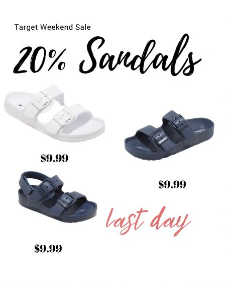 Last day to use target circle offer of 20% off sandals for the whole family!  Check out these cute and affordable burkinstock dupes for the fan!  Follow me on the LIKEtoKNOW.it shopping app to get the product details for this look and others http://liketk.it/3gpv8 #liketkit @liketoknow.it @liketoknow.it.family #LTKfamily #LTKsalealert #LTKshoecrush