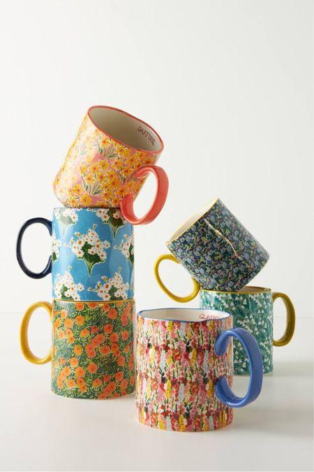 anthropologie x kimmy scafuro flowerfield mug  #LTKSeasonal #LTKhome #LTKunder50