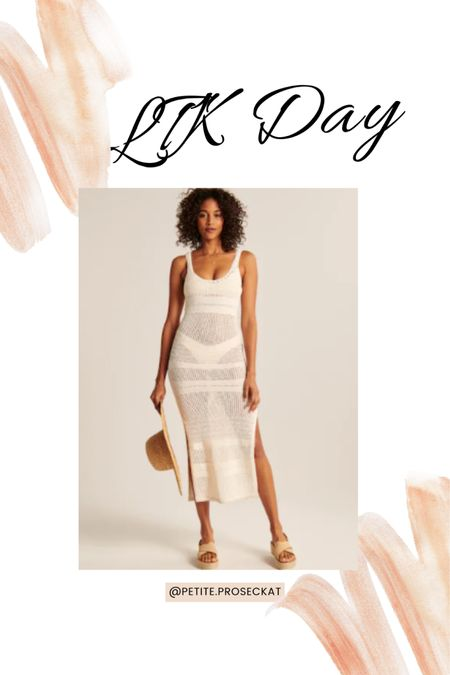 LTK DAY IS HERE! Abercrombie is 20% off and I can't stop obsessing over this crochet dress!  Shop my daily looks by following me on the LIKEtoKNOW.it shopping app #liketkit @liketoknow.it http://liketk.it/3hkdw