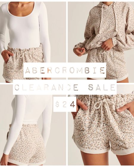 Abercrombie & Fitch ONE DAY CLEARANCE SALE! Snag these cozy paperbag shorts for just $24!  Follow me on the LIKEtoKNOW.it shopping app to get the product details for this look and others!   http://liketk.it/3dtdr #liketkit @liketoknow.it #cheeryandcharming #LTKunder50 #LTKsalealert #LTKbeauty #LTKfit #style #fashion #abercrombie #abercrombieandfitch #clearance #sale #salealert