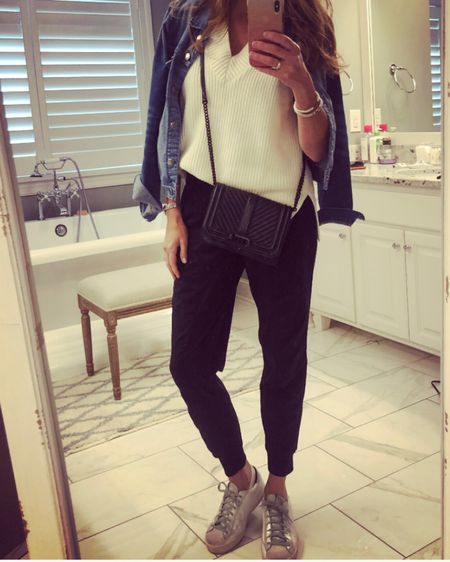 Do you have a style uniform? It's your go-to outfit that is comfortable and makes you feel good. Usually, mine is a blazer, t-shirt and jeans, but lately, it's been black joggers, a white top and a denim jacket. It's the perfect look for running errands, working from home or just lounging around the house.  PS. My appendix is out and I am FINALLY on the mend! Thank you for your prayers, positive thoughts and well wishes. ♥️    #fashionover40 #fashionover50 #midwestblogger  #over40fashion #personalstyleblog #blackjoggers #joggers #over40blogger #minneapolisblogger #over40style #40plusstyle #over50style #outfitideas #styledbyme #sweatervest  #fashionoverforty #overfortystyle   #fortyplusstyle #mnblogger #outfitideas #styletip #stylediary  http://liketk.it/2YQjx #liketkit @liketoknow.it You can instantly shop my looks by following me on the LIKEtoKNOW.it shopping app