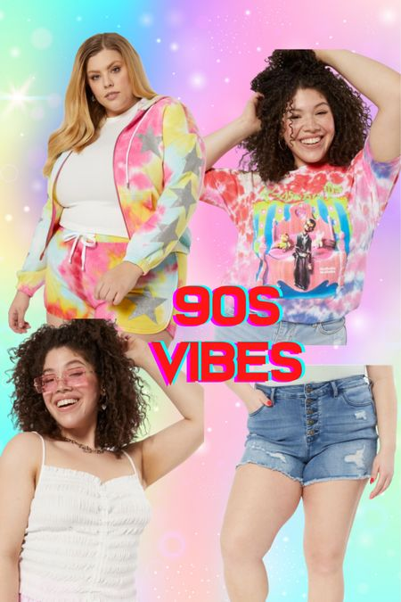 Serving you all the 90s vibes in plus size with these fun summer looks! Tie dye and shorts!   #LTKcurves