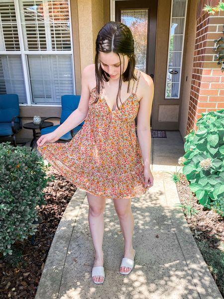 Target outfit! All true to size (but if inbetween go down in the sandals)💓 #targetpartner #targetstyle #target #summerdress #sandals #summeroutfits   #LTKunder50 #LTKstyletip #LTKshoecrush