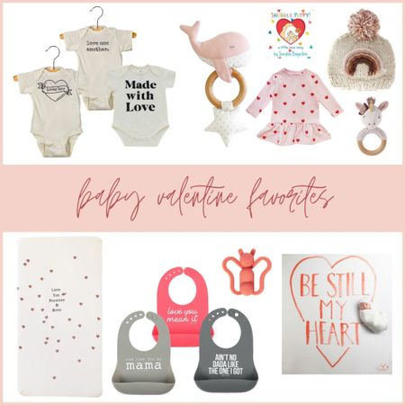 """When you already love some retail therapy, having a baby takes it to the next level. 😂  I had so much fun curating this little list of all the cutest Valentine stuff for the babes!!! I found so much goodness at Spearmint LOVE and was so excited to share it with y'all.   I think Sylas needs that """"Lover Boy"""" onesie, what do y'all think? 🥰♥️  #LTKbaby #LTKSeasonal #LTKbump"""