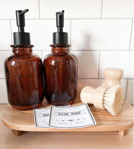 Cute little hand soap and dish soap set up.   #LTKunder50 #LTKGiftGuide #LTKhome