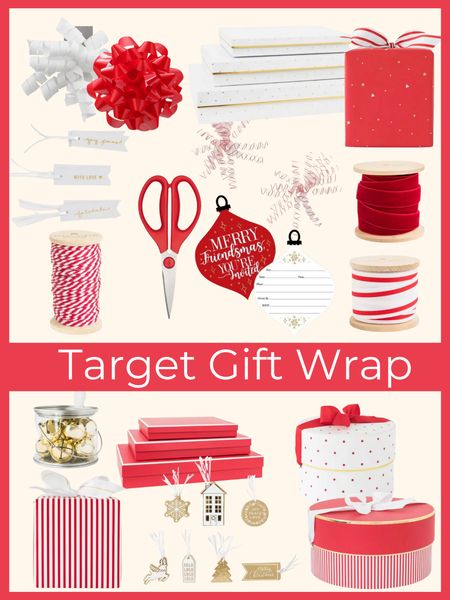 Holiday gift wrap essentials from Target!        Gift wrap , Christmas wrap , holiday gifts , target Christmas , wrapping essentials , #ltkunder50 #ltkstyletip  #LTKGiftGuide #LTKHoliday #LTKhome