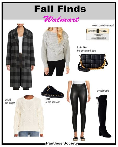 I found these Peter Thomas Roth eye masks on super sale! Almost 50% off! Walmart. Fashion finds. Walmart style. Shoe of the season. Black coat. Fall coat. Plaid coat. Leather leggings. Over the knee boots. Cassette puffer handbag. Fringe sweater. Fall sweater. Neutral dressing.  #LTKGiftGuide #LTKbeauty #LTKitbag