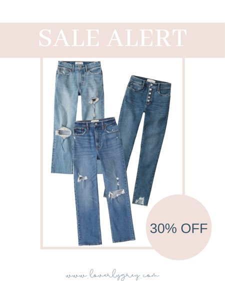 RUN! My favorite everyday jeans are on sale at Abercrombie for 30% off right now! I grab my normal size 00.   #LTKunder100 #LTKstyletip #LTKsalealert