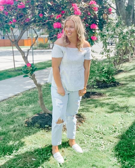 Summer style. Plus size fashion. Off the shoulder top. Old navy. Target style. Target. Shop my daily looks by following me on the LIKEtoKNOW.it shopping app http://liketk.it/3g1jY #liketkit @liketoknow.it #LTKcurves #LTKunder50 #LTKstyletip #ltkseasonal #competition