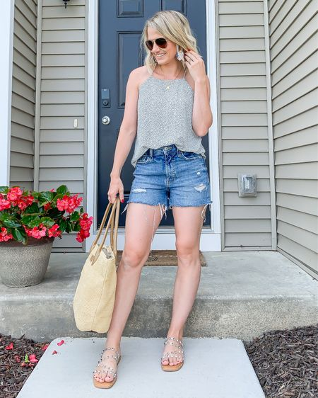 Old Navy denim shorts. They run big! I sized down. Wearing a size 0. Go to my Instagram for details on my top and earrings.   #LTKunder50 #LTKstyletip #LTKunder100