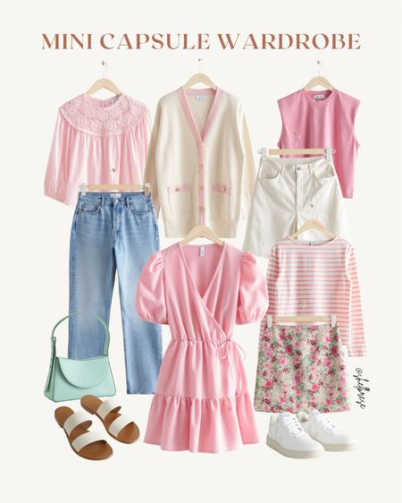 pink mini capsule wardrobe   #LTKstyletip #LTKunder100 #LTKtravel