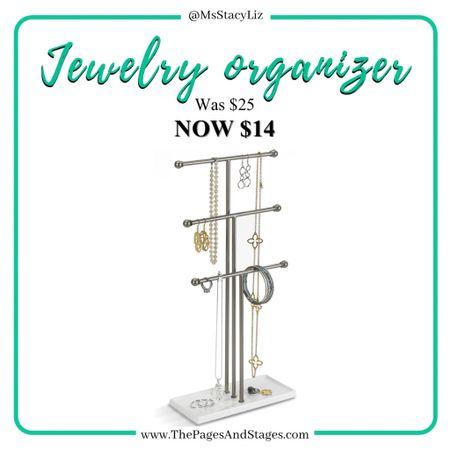 Standing jewelry organizer on sale on Amazon ! Use it for your daughters hair bows too! #liketkit @liketoknow.it http://liketk.it/33qz3 #sale #organizing
