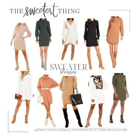 Sweater Dress, Casual Fall Outfit, Affordable Sweater Dresses, Nordstrom, Red Dress Boutique, Fall Date Night Outfit, Black Sweater Dress, Cream Sweater Dress, Tan Sweater Dress http://liketk.it/3pYTM  #LTKunder100 #LTKstyletip