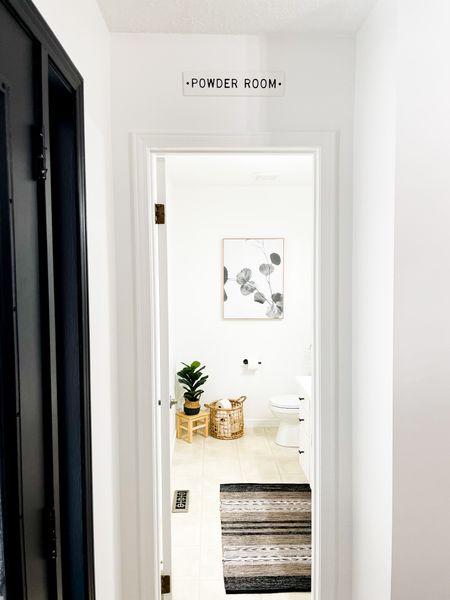 http://liketk.it/3hReA #liketkit @liketoknow.it #LTKhome #LTKunder100  Shop my powder room!  #powderroomdecor #powderroom #halfbathdecor #halfbath #bathroomdesign #bathroomdecor #halfbathdecor #neutralhome #neutralstyle #bohobathroom #rusticbathroom