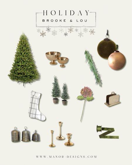 Holiday decor  Brooke & Lou Christmas decor Ornaments Stocking Garland  #LTKSeasonal #LTKhome #LTKHoliday