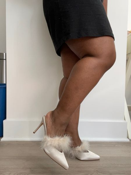 Ivory heels, bride to be, wedding shoes, engagement party   #LTKstyletip #LTKshoecrush #LTKunder50
