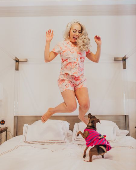 The sparrows jumped before they knew how to fly, and they learned how to fly only because they had jumped 🐦🐤   These ADORABLE $13 pjs came from @walmart and make my sweet dreams all the more comfy with my new oils from @goodjanesbeauty 😴 I'll admit I was never huge on oils before but I think they definitely create a more relaxing bedtime atmosphere and I love the Lights Out oil. 🛌   What's your take on essential oils? Have you tried them? What's your fave?   #lightsout #pajamas #pjs #flamingo #bedtime #comfy #dogsofinsta #dogsinclothes #instadog #tararrized #dfw #fortworth #dallas #texasgirl #styleinspo #currentlywearing #summerstyle  #bebold #powerfemales #powerofshe #essentialoils #diffuser #liketkit @liketoknow.it http://liketk.it/2BN7K